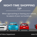 Night Time Shopping - Be Aware of Surroundings