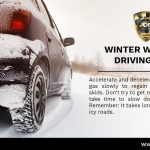 Winter Driving Safety Tip (Accelerate & Decelerate Slowly)